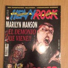 Revistas de música: REVISTA HEAVY ROCK # 176 ABRIL 1998 PORTADA MARILYN MANSON (MOTORHEAD, SATRIANI). Lote 83616532