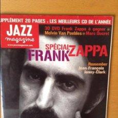 Revistas de música: JAZZ MAGAZINE Nº 543 (DÉCEMBRE 2003) - SPÉCIAL FRANK ZAPPA -. Lote 83787176