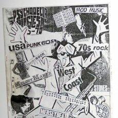 Revistas de música: FANZINE ANTIGUO CATALOGO ECCOS - ROCK - MOD - PSYCHODELIA - PUNK - NEW WAVE - CANCIONERO. Lote 84136332