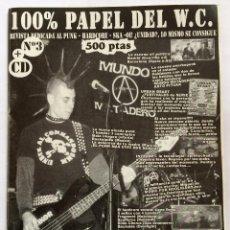 Revistas de música: FANZINE 100% PAPEL DEL W.C. NUMERO 3 PUNK SKA HARDCORE. Lote 84829424