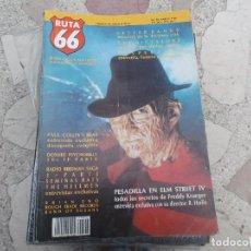 Revistas de música: RUTA 66 Nº 38: PESADILLA EN ELM STREET IV. TODOS LOS SECRETOS DE FREDDY KRUEGER. JOHN CALE. LOU REED. Lote 104096783