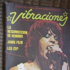 Revistas de música: VIBRACIONES Nº 10. JIMI HENDRIX, JANIS JOPLIN, LED ZEPPELIN, ROLLING STONES. Lote 85846384