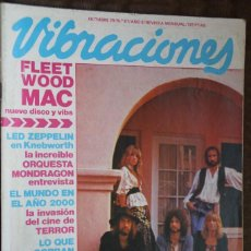 Revistas de música: VIBRACIONES Nº 61. FLEETWOOD MAC, LED ZEPPELIN, ORQUESTA MONDRAGON, CINE TERROR, TEQUILA, DEVO, VAN . Lote 85848140