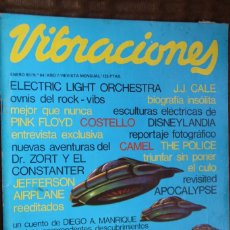 Magazines de musique: VIBRACIONES Nº 64. ELECTRIC LIGHT ORCHESTRA, J.J. CALE, PINK FLOYD, ELVIS COSTELLO, THE POLICE, CAME. Lote 85848324