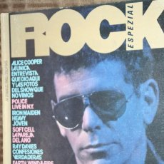 Magazines de musique: ROCK ESPEZIAL Nº 7. LOU REED, ALICE COOPER, POLICE, IRON MAIDEN, RAY DAVIES, STRAY CATS, JAPAN. Lote 85900464