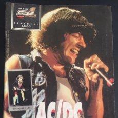 Revistas de música: REVISTA POPULAR 1 ESPECIAL ACDC AC DC CON POSTER. Lote 85905280