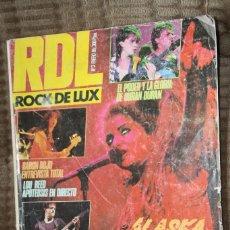 Revistas de música: ROCK DE LUX Nº 3. ALASKA, DURAN DURAN, BARON ROJO, LOU REED, LED ZEPPELIN, TWISTED SISTER. Lote 86477284