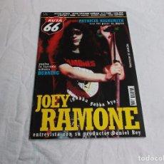 Revistas de música: RUTA 66 Nº 183: JOEY RAMONE. PATRICIA HIGHSMITH. BURNING. COTTON MATHER. FU MANCHU. MARY GAUTHIER. Lote 104096839
