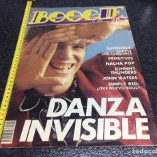Revistas de música: REVISTA BOOGIE Nº 2 , 3 NOVIEMBRE 1988 - DANZA INVISIBLE, SIMPLY RED, NACHA POP,. Lote 37206306