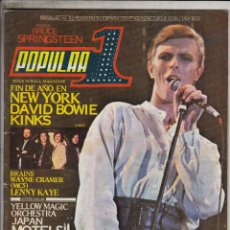 Revistas de música: REVISTA POPULAR 1 Nº 92 AÑO 1981. DAVID BOWIE. KINKS. AC/DC.. Lote 88964972