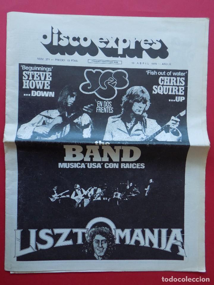 DISCO EXPRES Nº 371 - 1976 - YES THE BAND ... R-6314 (Música - Revistas, Manuales y Cursos)