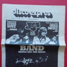 Revistas de música: DISCO EXPRES Nº 371 - 1976 - YES THE BAND ... R-6314. Lote 89357844