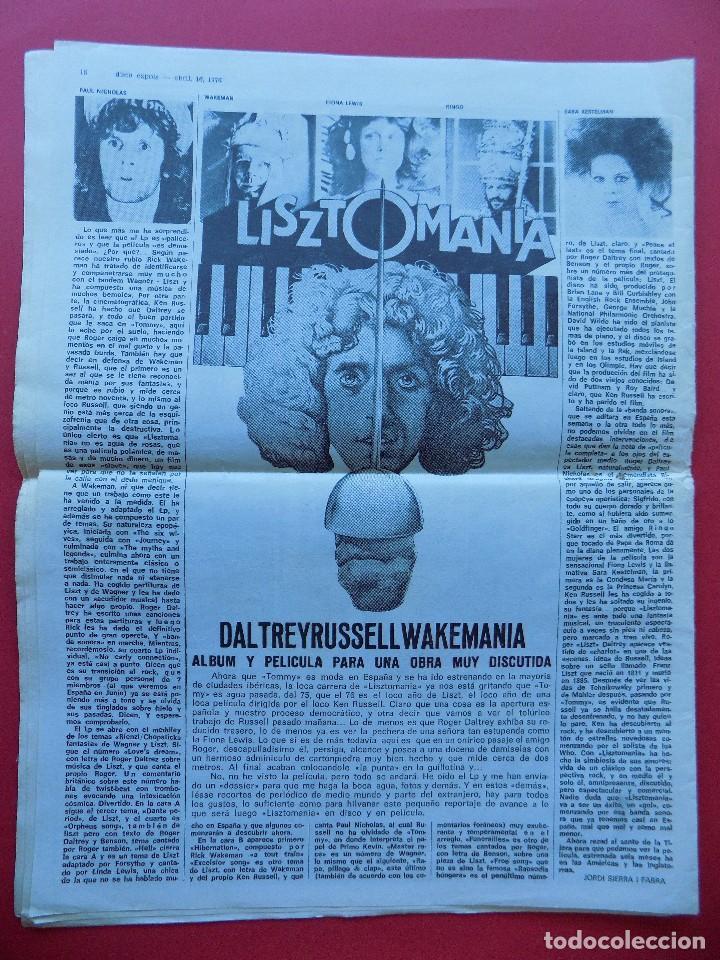 Revistas de música: DISCO EXPRES Nº 371 - 1976 - YES THE BAND ... R-6314 - Foto 9 - 89357844