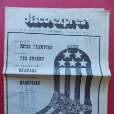 Revistas de música: DISCO EXPRES Nº 382 - 1976 - PETER FRAMPTON - TED NUGENT - NASHVILLE... R-6315. Lote 89361064