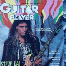 Revistas de música: GUITAR PLAYER. STEVE VAI. PACO DE LUCÏA ENTREVISTA EXCLUSIVA. Nº 5. Lote 89379228