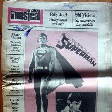 Revistas de música: EL GRAN MUSICAL - MARZO 1979 - MIGUEL BOSE - BILLY JOEL - SID VICIOUS - VICTOR MANUEL - CAMILO SESTO. Lote 92098515
