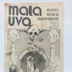 Revistas de música: MALA UVA Nº 1 (1977) REVISTA MUSICAL INDEPENDIENTE ORIGINAL LOS BRAVOS TED NUGENT GRATEFUL DEAD. Lote 93317605