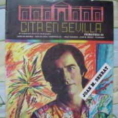 Revistas de música: REVISTA CITA EN SEVILLA, N 5 , SEMANA DEL 8 AL 14 DE JUNIO 1984 JOAN MANUEL SERRAT. Lote 93821015