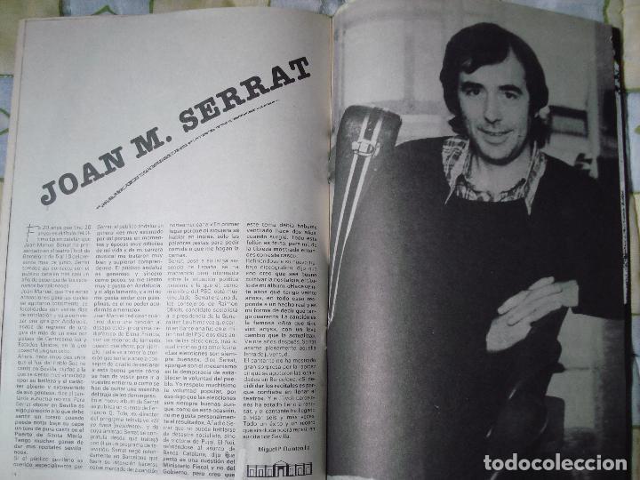 Revistas de música: REVISTA CITA EN SEVILLA, N 5 , SEMANA DEL 8 AL 14 DE JUNIO 1984 JOAN MANUEL SERRAT - Foto 3 - 93821015