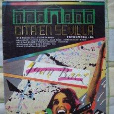 Revistas de música: REVISTA CITA EN SEVILLA, N 2 , SEMANA DEL 18 AL 24 DE MAYO 1984 JOAN BAEZ. Lote 93821765