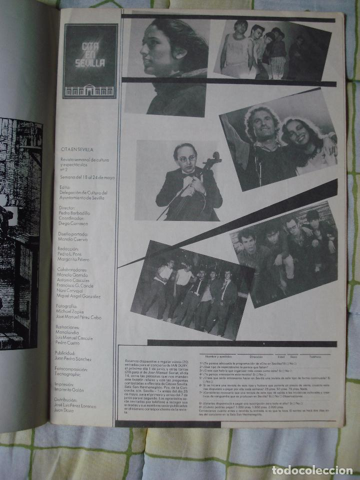 Revistas de música: REVISTA CITA EN SEVILLA, N 2 , SEMANA DEL 18 AL 24 DE MAYO 1984 JOAN BAEZ - Foto 5 - 93821765