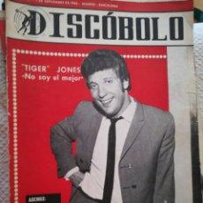 Revistas de música: DISCOBOLO N°107 1 DE SEPTIEMBRE 1966 TOM JONES. Lote 94235533