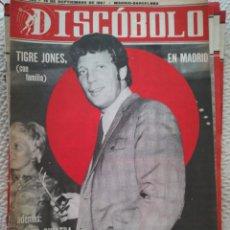 Revistas de música: DISCOBOLO N°132 15 DE SEPTIEMBRE 1967 TOM JONES. Lote 94236233