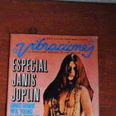 Revistas de música: REVISTA VIBRACIONES - MAYO 1976 - Nº20 - AÑO 3 - ESPECIAL JANIS JOPLIN - DAVID BOWIE - MÚSICA. Lote 94859971