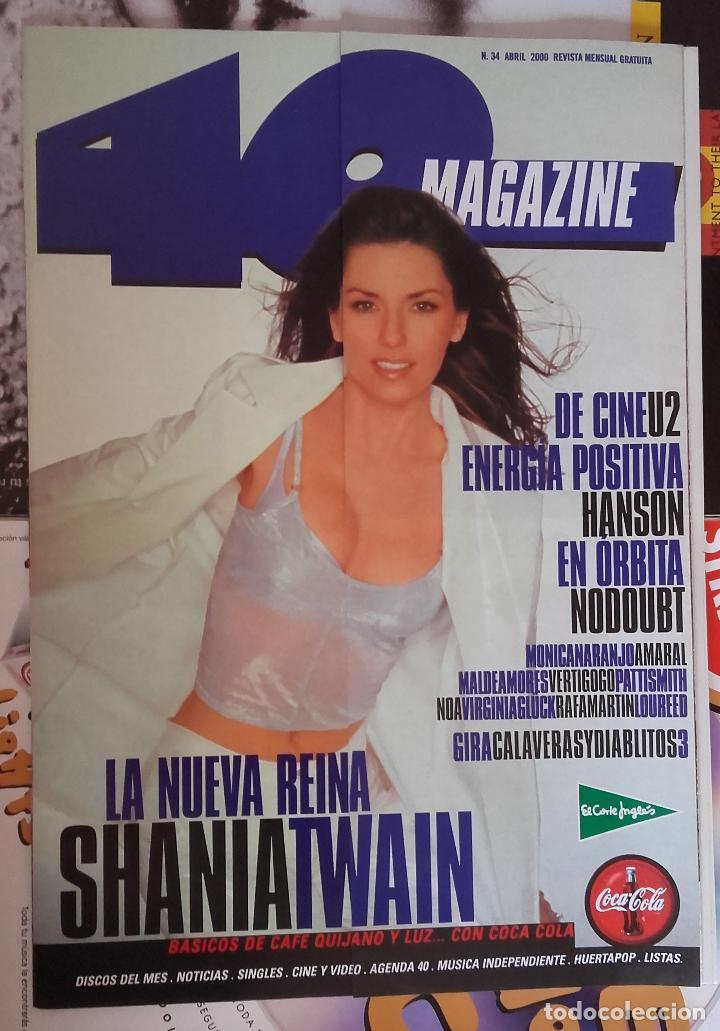 Revista 40 Magazine Nº 34 Shania Twain Nodoubt Hanson Mónica Naranjo Como Nueva