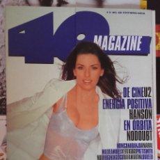 Revistas de música: REVISTA 40 MAGAZINE - Nº 34 - SHANIA TWAIN, NODOUBT, HANSON, MÓNICA NARANJO - COMO NUEVA. Lote 94000855