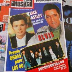 Revistas de música: REVISTA EL GRAN MUSICAL - Nº 298 - 1988 - ESPECIAL ELVIS PRESLEY - GRAN POSTER ELVIS - BUEN ESTADO. Lote 95062343