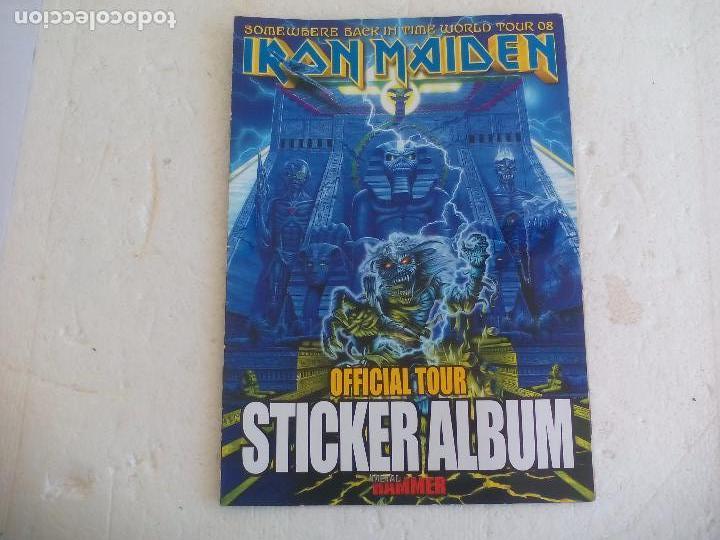 IRON MAIDEN. OFFICIAL TOUR 08 2008 STICKER ALBUM DE PEGATINAS. METAL HAMMER (Música - Revistas, Manuales y Cursos)