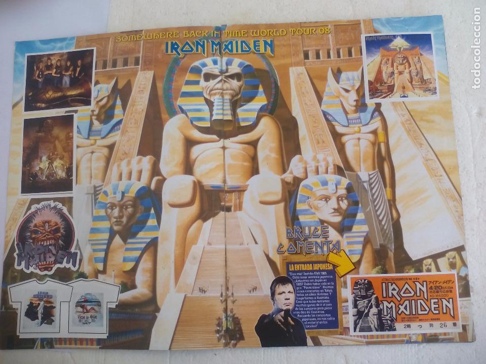 Revistas de música: Iron Maiden. Official tour 08 2008 Sticker album de pegatinas. Metal Hammer - Foto 2 - 95283667