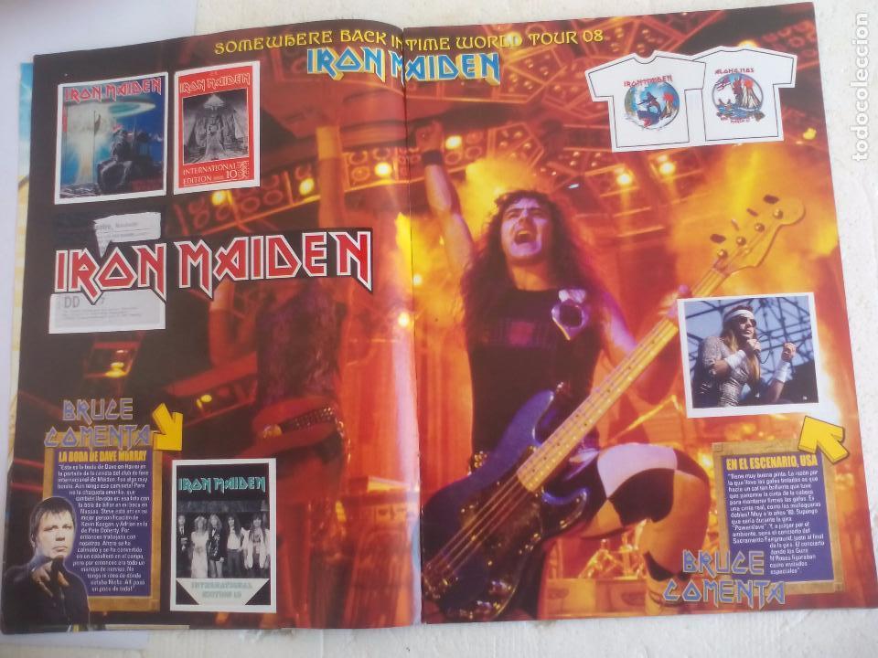 Revistas de música: Iron Maiden. Official tour 08 2008 Sticker album de pegatinas. Metal Hammer - Foto 3 - 95283667
