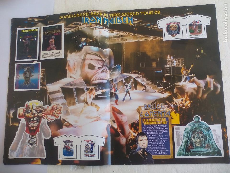Revistas de música: Iron Maiden. Official tour 08 2008 Sticker album de pegatinas. Metal Hammer - Foto 6 - 95283667