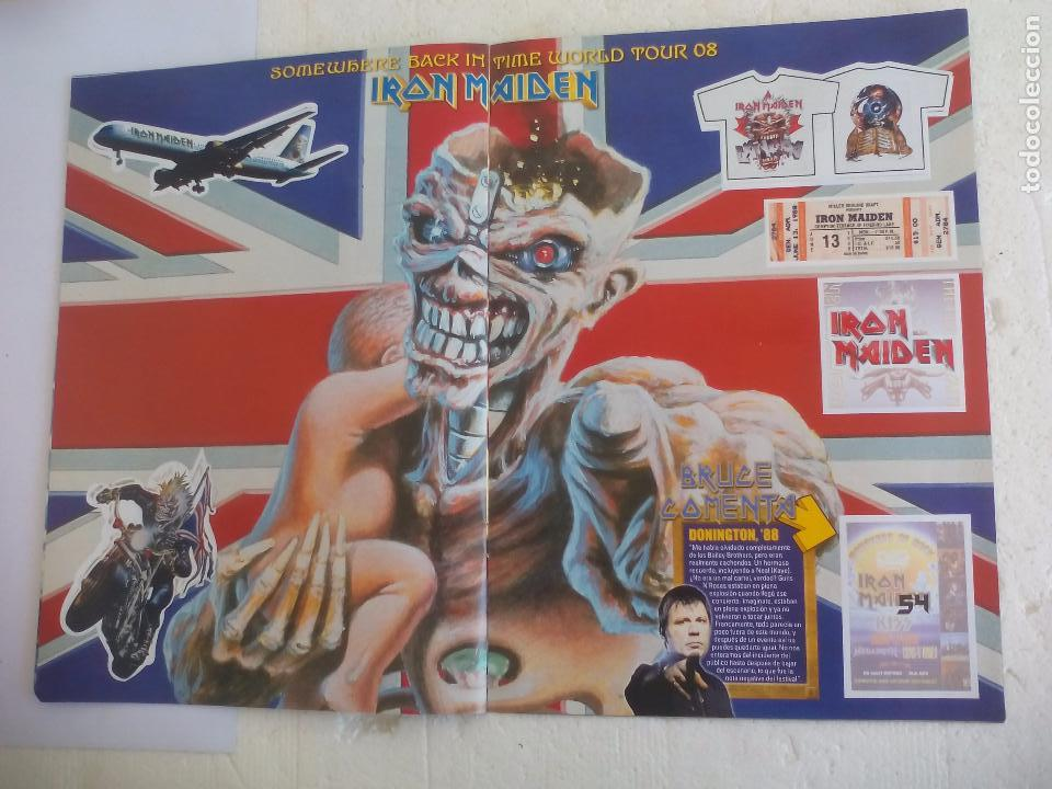 Revistas de música: Iron Maiden. Official tour 08 2008 Sticker album de pegatinas. Metal Hammer - Foto 8 - 95283667