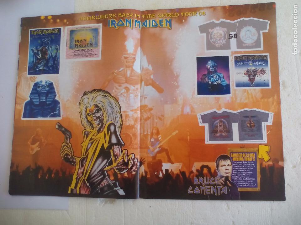 Revistas de música: Iron Maiden. Official tour 08 2008 Sticker album de pegatinas. Metal Hammer - Foto 9 - 95283667