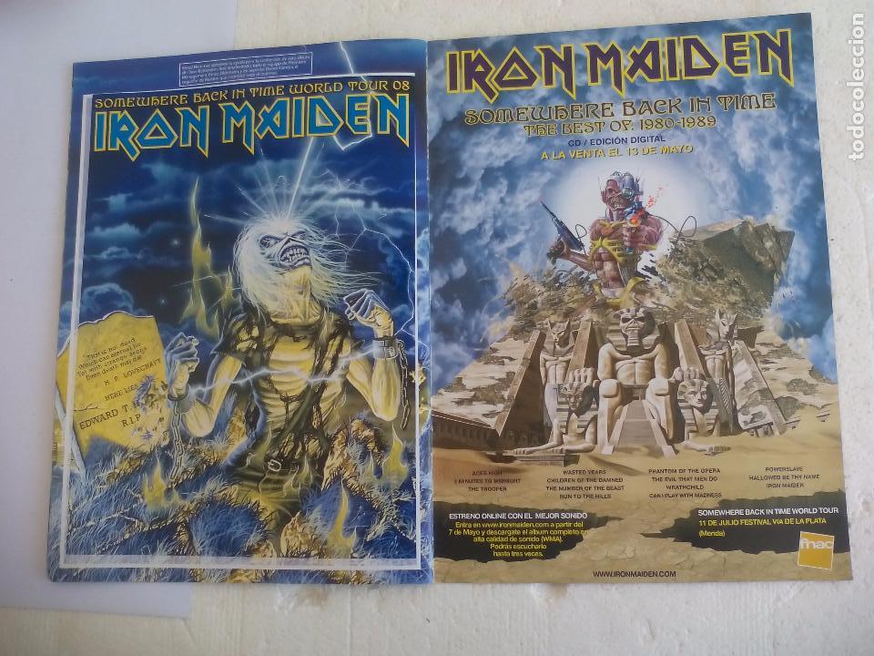 Revistas de música: Iron Maiden. Official tour 08 2008 Sticker album de pegatinas. Metal Hammer - Foto 10 - 95283667
