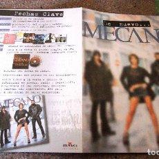 Revistas de música: MECANO - PUBLICIDAD DEL ÁLBUM ANA, JOSÉ, NACHO - AÑO 1998 - RAREZA - EXCELENTE ESTADO. Lote 95407351