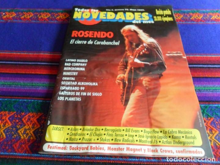 TODAS LAS NOVEDADES DEL MES Nº 70. MAYO 1999. ROSENDO LOS PLANETAS SOZIEDAD ALKOHOLIKA MINISTRY RARA (Música - Revistas, Manuales y Cursos)