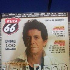 Revistas de música: REVISTA MAGAZINE RUTA 66 N° 196 LOU REED. Lote 95715836