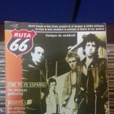 Revistas de música: REVISTA MAGAZINE RUTA 66 N° 155 THE CLASH MISFITS BOWIE. Lote 95715988