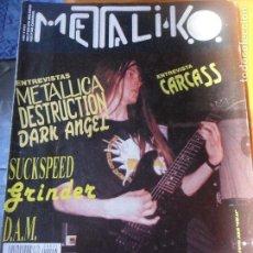 Revistas de música: METALIKO Nº 51 - CARCASS, SEPULTURA, METALLICA, DESTRUCTION, MISSERIA & KOMPAÑIA, DARK ANGEL.... Lote 95724147