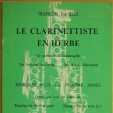 Revistas de música: DANEELS: LE CLARINETTISTE EN HERBE. Lote 95887579