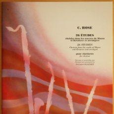 Revistas de música: ROSE: 26 ESTUDIOS PARA CLARINETE. Lote 95888195