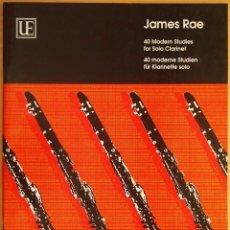 Revistas de música: RAE: 40 MODERN STUDIES FOR SOLO CLARINET. Lote 95888539