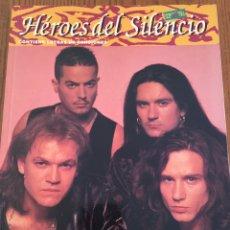 Revistas de música: LIBRO HÉROES DEL SILENCIO. COLECCIÓN IMÁGENES DE ROCK. FIRMADO POR BUNBURY, VALDIVIA Y P. ANDREU. Lote 97121856