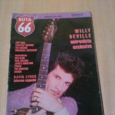 Magazines de musique: RUTA 66, NUM 58, ENERO 1991, WILLY DEVILLE, MAQUINA, TAPIMAN, ROCK PROGRESIVO ESPAÑOL, DAVID LYNCH .. Lote 97195147