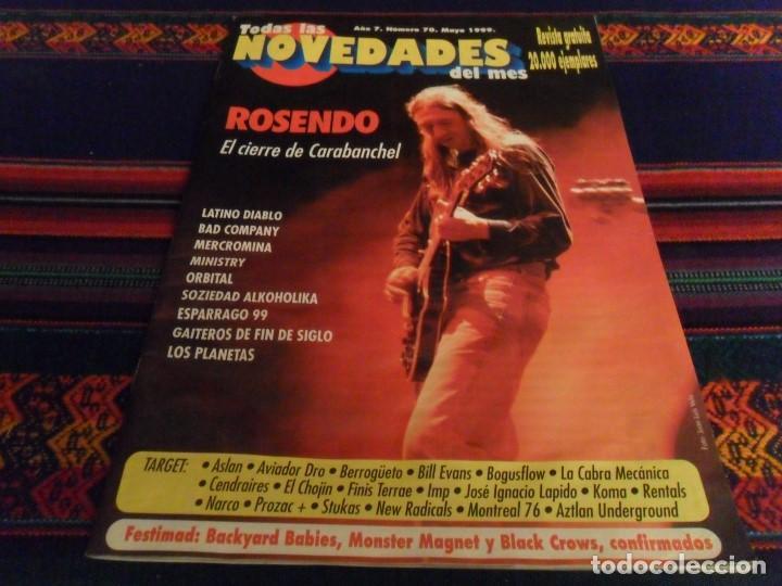 BUEN ESTADO. TODAS LAS NOVEDADES DEL MES Nº 70 MAYO 99 ROSENDO LOS PLANETAS SOZIEDAD ALKOHOLIKA RARA (Música - Revistas, Manuales y Cursos)