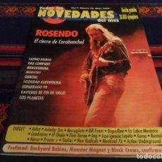 Revistas de música: BUEN ESTADO. TODAS LAS NOVEDADES DEL MES Nº 70 MAYO 99 ROSENDO LOS PLANETAS SOZIEDAD ALKOHOLIKA RARA. Lote 97207911